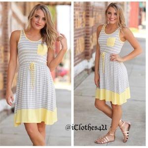 Dresses & Skirts - 5🌟 Rated So Soft Sunshine Striped Tank Dress